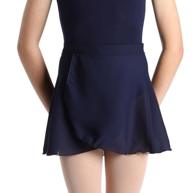 Wrap Skirt Short Tie - Navy